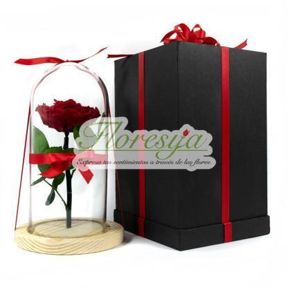 Caja de lujo para rosa encantada