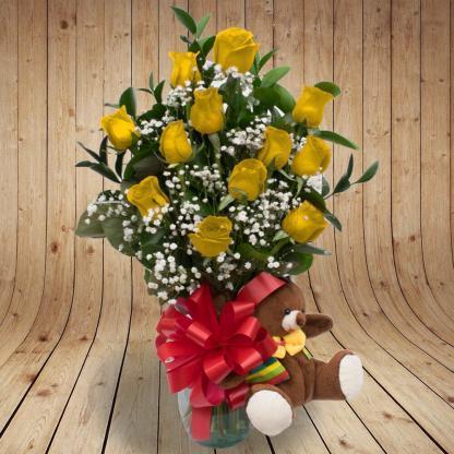 Rosas Amarillas Peluche Rosas Amarillas Peluche