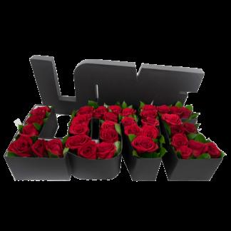 caja rosas love