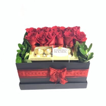 Caja Rosas Chocolates