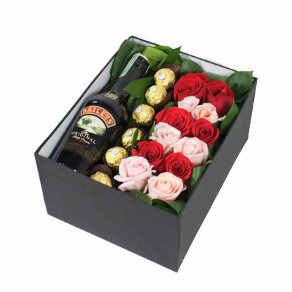 Combo Rosas Chocolates Baileys