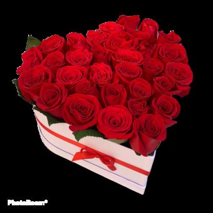 Floristeria Bogota ► Baul Corazon X 36 Rosas