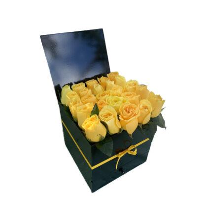 Floristeria Bogota ► Caja Amarillas Rosas Luxury