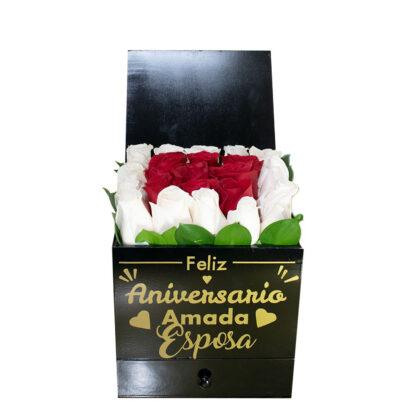 Caja Rosas Luxury Aniversario Caja Rosas Luxury Aniversario