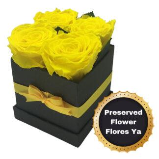 Caja Rosas Encantadas Amarillas
